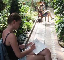 Живописный мастер-класс под сенью тропических пальм